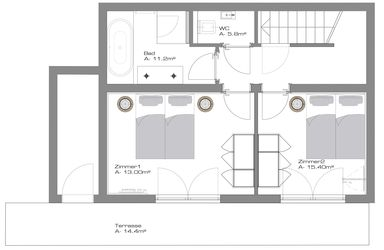 Chalet 1 - ground plan ground floor