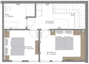 Chalet 1 - ground plan top floor