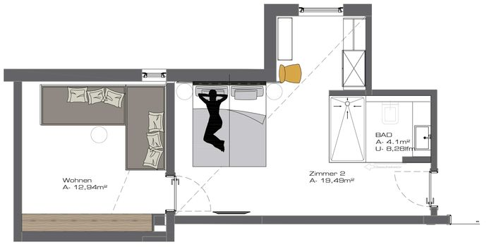 Ground plan Family Room (No 52)